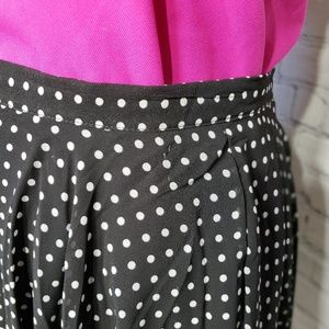 BCBGeneration Skirts - 💥LAST CHANCE💥B&W chiffon polka dot skirt_c